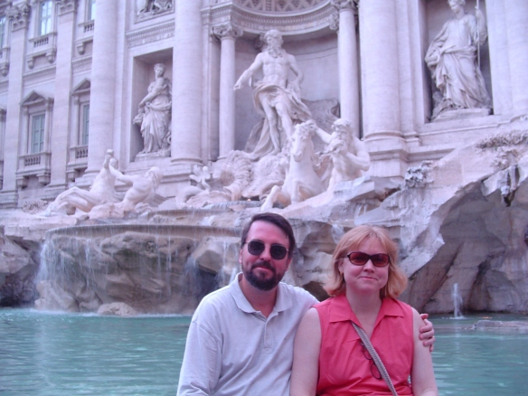 Hanging out at the Trevi Fountain