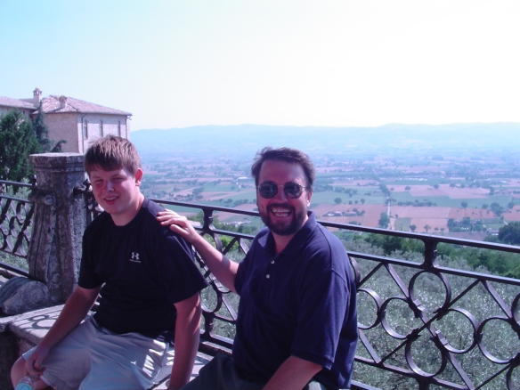Russell and I take a break in Assisi