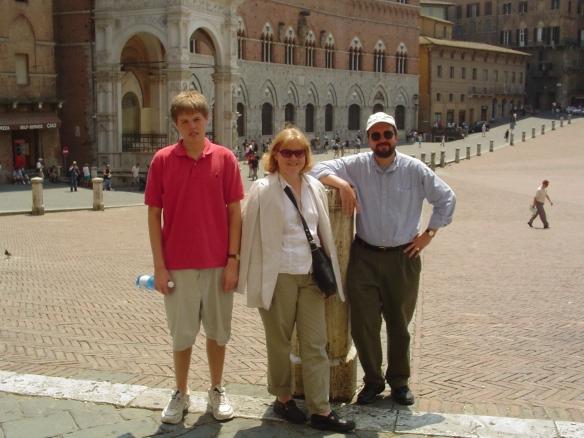 On the main square in Siena