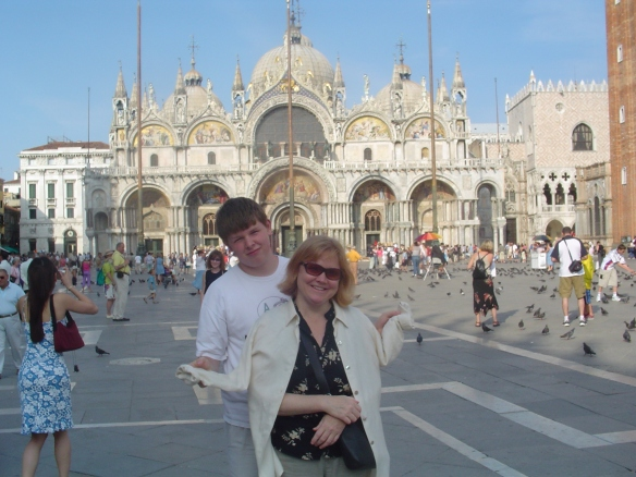 Russell and Kish on the Piazza San Marco