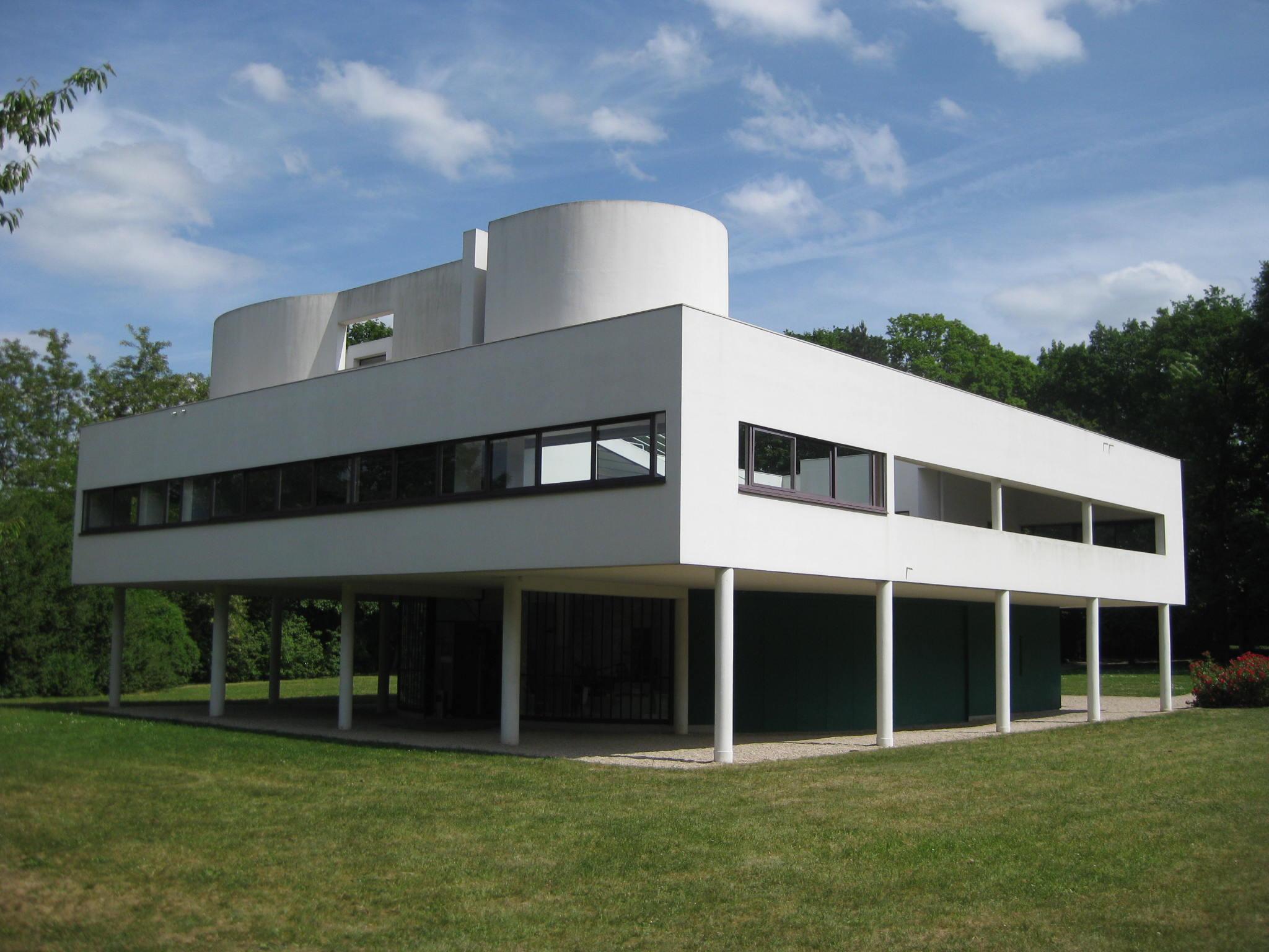 villa savoye elevation plan joy studio design gallery. Black Bedroom Furniture Sets. Home Design Ideas