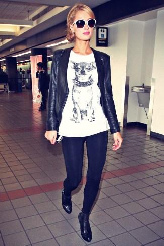 paris-hilton-walking-through-lax-airport