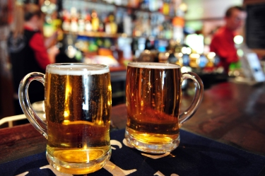 two-cups-of-beer-in-bar