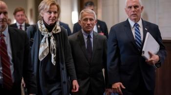 Deborah Birx, Anthony Fauci, Mike Pence